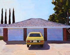 """Yellow Datsun"" oil on canvas 16"" x 20"" January 2015 Dmitri Cavander"