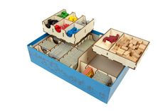 """Much like the fortified, French town, you want to keep your tiles, tokens and pieces """"walled in"""" and protected in your box! Our Carcassone organizer holds the base game and many expansions (please ref"""