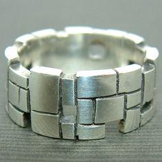 Final silver brick ring