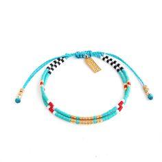 Turquoise Bracelet, Seed Bead Bracelet, Friendship Bracelet, Summer Jewelry, Ocean Blue, Yoga Bracelet, Turquoise jewelry