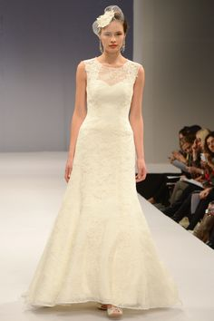 Anne Barge – Bridal Fall 2013    TAGS:Embroidered, Floor-length, Cream, Anne Barge, Lace, Silk, Elegant