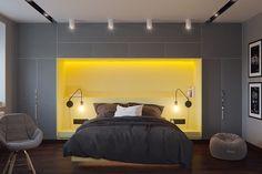 minimalist gray bedroom