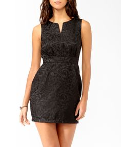 NO LONGER AVAILABLE - Brocade Sheath Dress | FOREVER21 - 2025102281