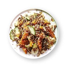 "Oprah says, ""This quinoa salad is delicious with Marcona almonds, but I sometimes substitute toasted pine nuts, because everything tastes better with toasted pine nuts!"""