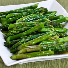 This Barely-Cooked Asparagus with Lemon-Mustard Vinaigrette is not only stunningly delicious, but this recipe is Low-Carb, Gluten-Free, Paleo, and South Beach Diet friendly. [from KalynsKitchen.com]