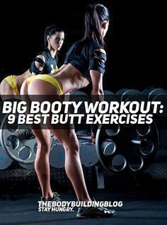 "It is uncontested that your glutes (butt muscles) are very important if you want to build an aesthetic and curvy figure. Check out the ""Big Booty Workout"" and read up about what are the 9 best butt exercises that will bring you the best results! #fitness #squats #exercise #workout #gym"