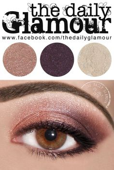 Lid Color: BFTE Shadow in Dusty Rose, blended into the crease. I have to add that this is one of my all-time favorite colors :)  Outer Crease and Outer Lid Color: BFTE Shadow in Livid.  Highlighter: BFTE Shadow Butt Naked.