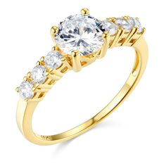 14k Yellow Gold SOLID Wedding Engagement Ring - Size 8.5