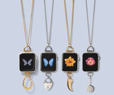 Bucardo's interchangeable charms are available in gold and silver-- a fun way to change up your look, for only $59!