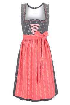 Dirndl Nicole gray-pink, buy Apron Included in Costumes Angermaier online