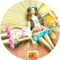 SIMS4 marigold: baby-doll night slip_베이비돌 슬립_여자 잠옷