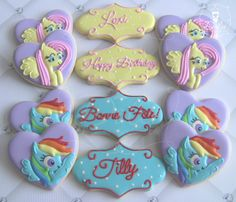 My Little Pony Decorated Sugar Cookies
