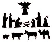 7 Best Images of Printable Christmas Silhouette Patterns - Christmas Nativity Silhouettes, Nativity Scene Silhouette Pattern-Free and Nativity Silhouettes Christmas Nativity Set, Christmas Art, Christmas Projects, All Things Christmas, Holiday Crafts, Christmas Holidays, Christmas Decorations, Christmas Ornaments, Nativity Silhouette