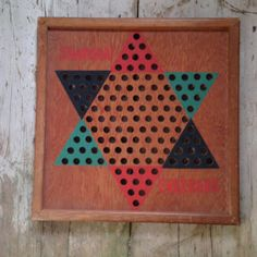 vintage chinese checkers game board / Wooden by Thesuitcasearchaic