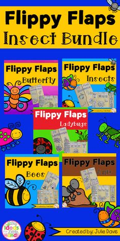 Insects Bugs BUNDLE Flippy Flaps!  This is a great way to get your students learning about different Insects in a fun hands-on interactive way! Packs included are: Bees, Ants, Butterflies, Ladybugs, and Insects. Your students will be engaged and learn about Insects in many different ways!  Some activities are: - Insects can/have/are - Insects KWL - Label an Insect - Insects Facts - All About Insects - Life Cycle of an Insect - Insect Adjectives - Sort Insect/Not Insect - Types of Insects