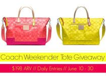 OOMPH and other great bloggers joined together to giveaway one Coach Weekender Tote to one lucky winner.
