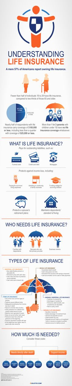 Equote|Understanding Life Insurance infographic|This infographic could be useful for helping low intermediate+ ELLs understand the basics of life insurance.