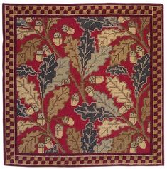 Red Acorn Cushion Traditional style tapestry kit designed by Cleopatra's Needle. Contents: 12 count colour printed tapestry canvas, Appleton wools, needle and full instructions, Approx. Needlepoint Pillows, Needlepoint Kits, Needlepoint Canvases, Hand Work Embroidery, Embroidery Kits, Cross Stitch Embroidery, Cross Stitch Kits, Cross Stitch Patterns, Cleopatra's Needle