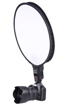 Giving your subject a softer even tone has never been easier! A portable light modifier. When used on top of small DSLR speedlite flashes, it creates soft directional light that is perfect for situa Dslr Photography Tips, Photography Career, Photography Classes, Flash Photography, Photography Equipment, Photography Backdrops, Photography Tutorials, Photography Business, Light Photography