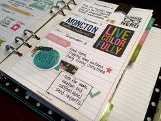 November Weekly - Simple Stories Carpe Diem Planner