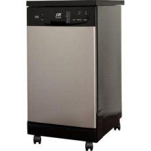 Spt Dishwasher. 18 in. Front Control Portable Dishwasher in Stainless