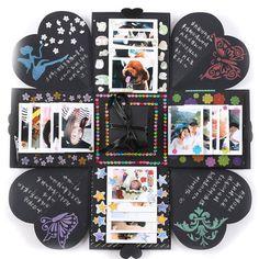 Diy Album Photo, Memories Photo Album, Diy Photo, Diy Gift Box, Diy Box, Diy Album Box, Diy Crafts Makeup, Diy Makeup, Diy Handmade Album