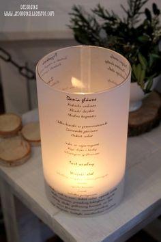 Deconatka: Wedding menu , wedding decor, lattern menu