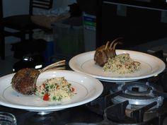 Servidos com o tabule de couscous marroquino