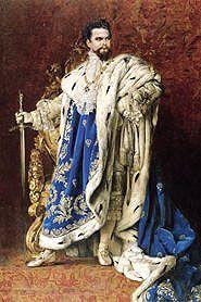 "König Ludwig II. - er hat das Schloss Herrenchiemsee bauen lassen. In Bayern nennen wir ihn auch gerne ""Kini""     King Ludwig II. - he built the Castle Herrenchiemsee"