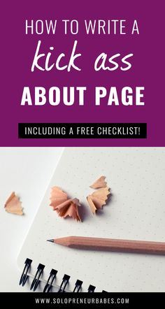 How To Write A Kick-Ass About Page - Including Free Checklist! - Solopreneur Babes