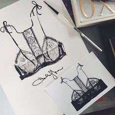 { weekend werk. Little something for @laperlalingerie }