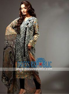 Pakistani Lawn Dresses with Prices | Resham Ghar Lawn Collection 2014  Party Wear Salwar Kameez UK