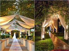 rustic wedding walkway idea