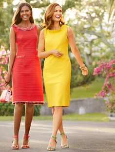 It's officially dress season! Classic, colorful accents with clever details—it's the season for everyday chic. Fall Dresses, Pretty Dresses, Sexy Dresses, Plus Size Dresses, Beautiful Dresses, Casual Dresses, Girls Dresses, Summer Dresses, Shorts Longs