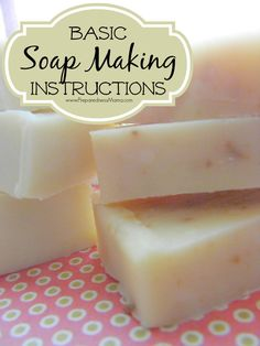 Basic soap making instructions with an infographic | PreparednessMama