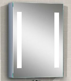 Led Striped Illuminated Medicine Cabinet