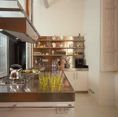 Kitchen Lovely stainless steel.