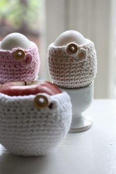 crocheted egg warmers
