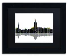 Annapolis Maryland Skyline by Marlene Watson Framed Graphic Art