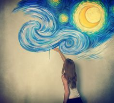 Do a huge recreation of starry night, me and mack have been wanting to do this!