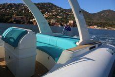 Wimbi Boats Pneumatique Bateau Yacht Semi-rigide Ocean W9i navigation Mer Black Fin