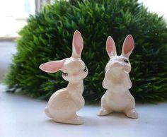 Bunny Figurines, #bunny, #rabbit, #ceramic