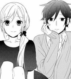 Art Anime, Chica Anime Manga, Anime Kawaii, Manga Girl, Manga Couple, Anime Love Couple, Cute Anime Couples, Dibujos Cute, Horimiya