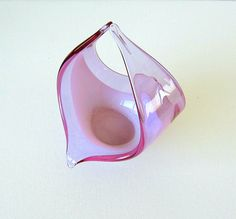 Mid Century Modern Murano Glass Bowl Lavender & by retrogroovie