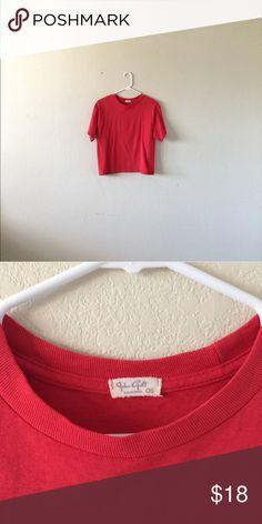 7f9d9c21460b2e Brandy Melville red tee shirt boxy