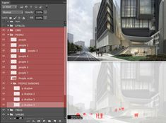 Here's a step-by-step guide to managing the layers of your renderings in photoshop. Shadow Tree, Road Texture, Tower Building, Big Picture, Interior Lighting, Step Guide, Layers, Management, Photoshop