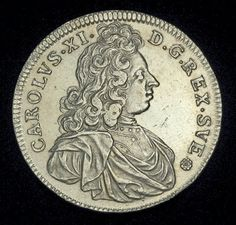Sweden coins 4 Mark Silver Coin of 1692, King Charles XI of Sweden