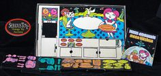 """Lot Detail - 1969 Colorforms """"Miss Cookie's Moon Kitchen""""...had this same one and enjoyed playing with it."""