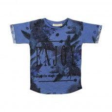 Norman Tropical T-Shirt Indigo blue