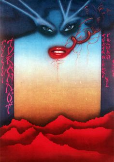 Turandot. Original Polish Poster. Poster for the opera of Giacomo Puccini, designer: Piotr Zerdzicki, year: 1981